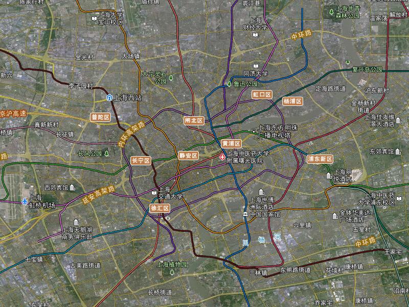 上海卫星地图 高清上海卫星地图下载|成都水经注rivermap